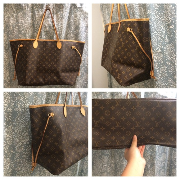 2895252256d SOLD Authentic Louis Vuitton monogram Neverfull GM
