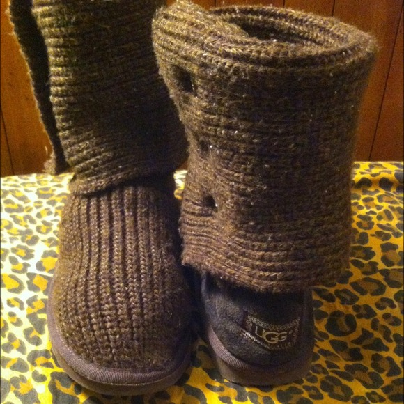 UGG Shoes - Brown sweater uggs!