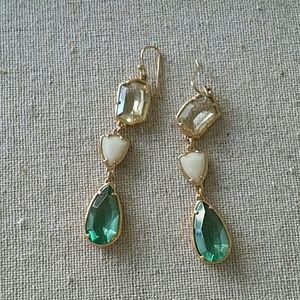Stella and Dot Green Pippa Stone Earrings