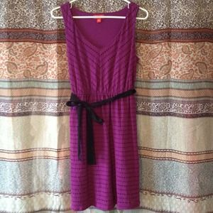 elle Dresses & Skirts - Bright purple cotton dress