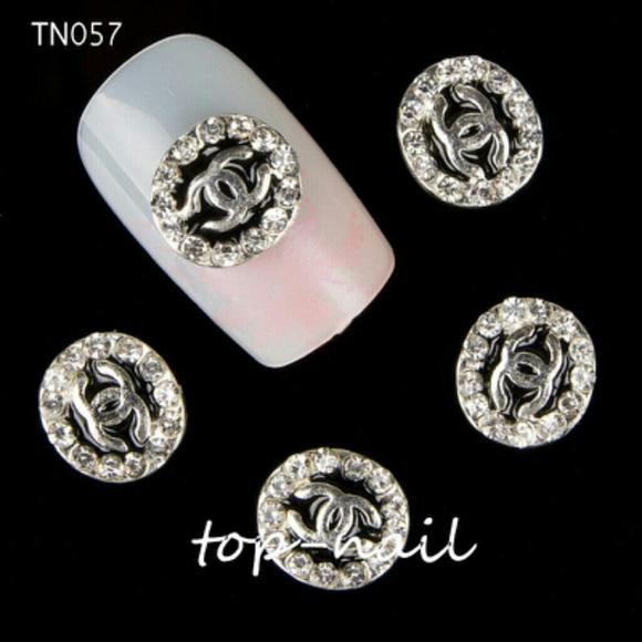 Unbranded Other Chanel Nail Art Decorations Black Rhinestones