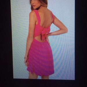 Lulus fuchsia bow back dress