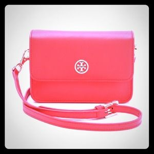 Authentic Tory Burch Poppy Red Mini crossbody !!!
