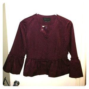 NWOT BCBG Max Azria burgundy short jacket