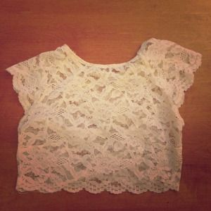 LF Tops - SOLD LF Millau Lace Crop Top