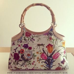 Gucci Canvas Floral Bag