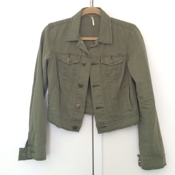 Green Jean Jacket 67N2wU