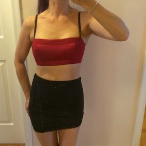 oNGASSOMER red crop top bralette style