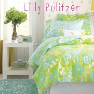 Lilly Pulitzer Other Like New Twin Duvet Cover Poshmark