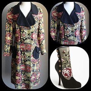 Lilli Ann Jackets & Blazers - Fabulous and unique floral tapestry knit coat