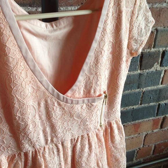 H&m Peach Lace Dressnwt