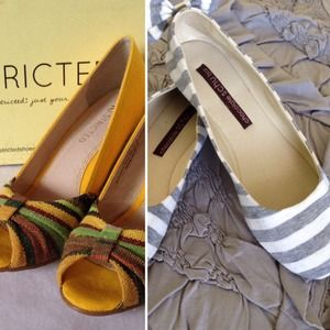 ModCloth Shoes - BUNDLE Anthro Stripe Flats & ModCloth Wedges