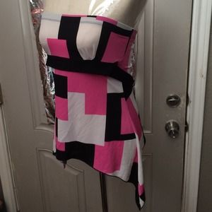 Rave Tops - Hot Pink Rave Strap-Less Top!