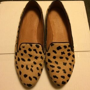 SOLD!! Madewell J.Crew loafer calf hair leopard