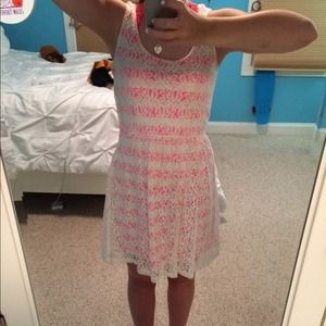 White and pink lace dress!