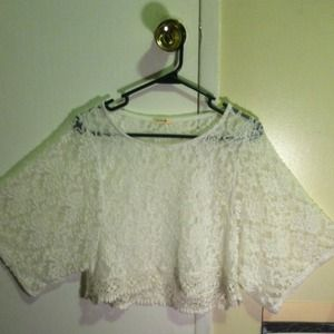 White lace cover up.
