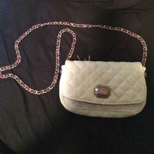 light blue cross body purse