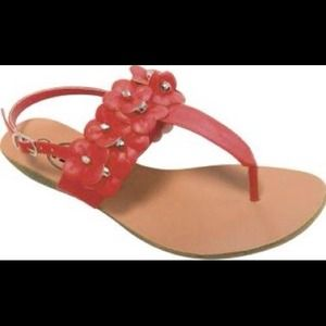 Carrini   Flower Wedge Sandals.Summer almost here