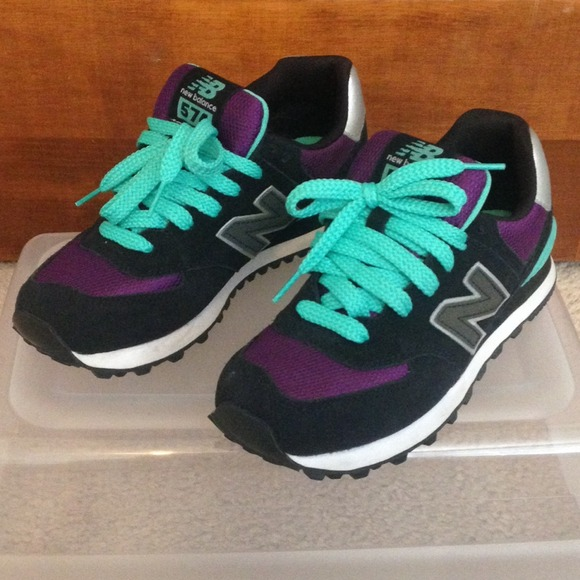 new balance 574 black green