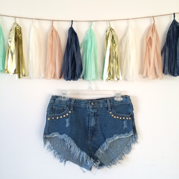 Rare One Teaspoon Studded Rollers Cut Off Shorts