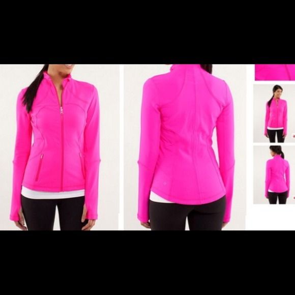 46% off lululemon athletica Jackets & Blazers - Hot pink lululemon ...