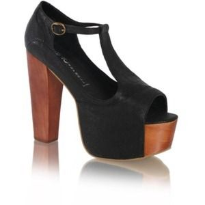 Jeffrey Campbell Shoes - Jeffrey Campbell Black suade foxy T-strap