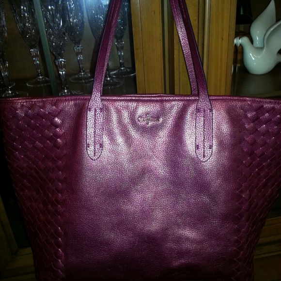 Cole Haan Cole Haan Iridescent Pink Leather Large Tote