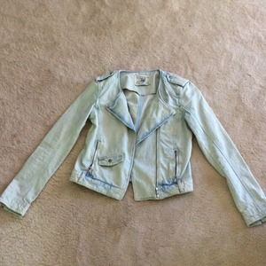 Light moto jean jacket