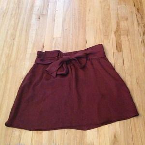 Burgundy Tie Skirt