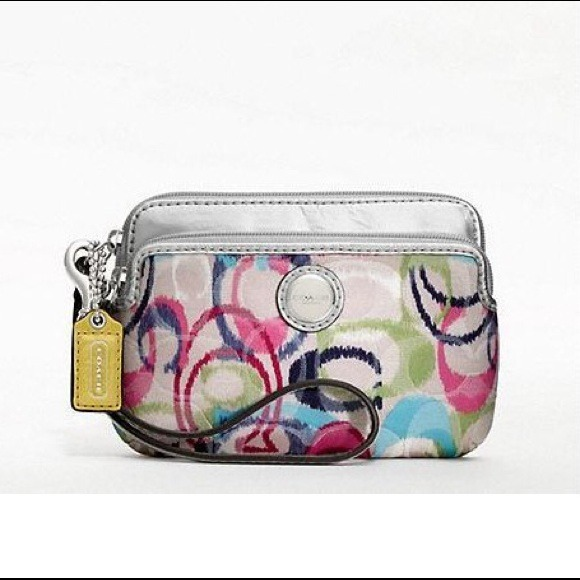 Poppy Ikat Double Zip Wallet Coach Poppy Ikat Double Zip