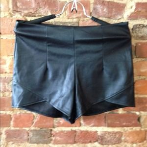Other - Pu leather shorts.