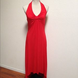 Spense Dresses & Skirts - NWT Spense Brick Red Asymmetrical Hem Maxi ~ L