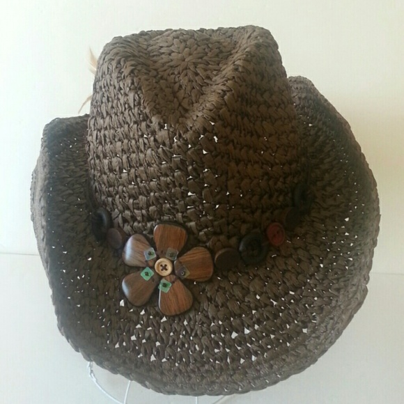 94988c326ac50 SALE Chocolate Straw Cowboy Hat