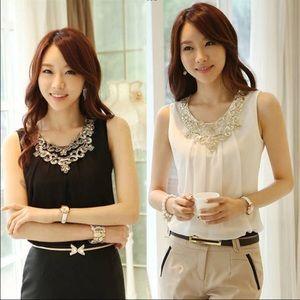 Tops - 🎹Black Ladies Blouse casual sleeveless