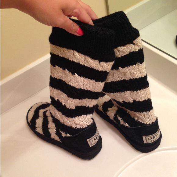 Uggs classic tall striped boot