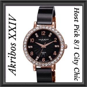 Akribos xxiv Accessories - Diamond Bangle Watch