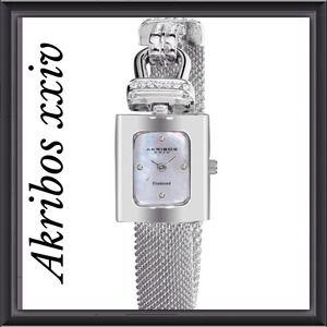 Akribos xxiv Accessories - Diamond & Crystal Watch