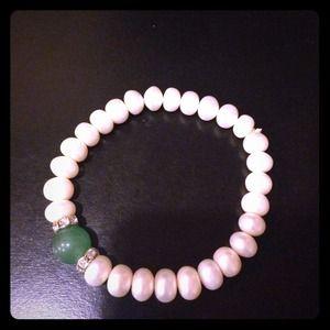 Jewelry - Genuine fresh water pearl adjustable bracelet