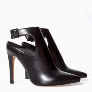 NWT Zara's Sling Back Ankle Booties