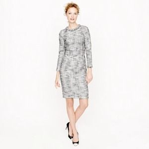 J. Crew Dresses & Skirts - New JCrew Long Sleeve Tweed Dress Size 00