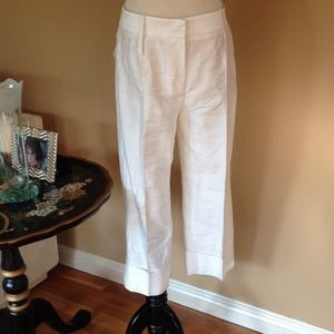 SALEDolce&Gabbana White Raw Silk Dress Pants sz 38