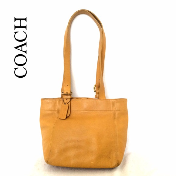 55f64457a72d Coach Handbags - AUTH VINTAGE COACH 4157 RARE YELLOW LEATHER BAG
