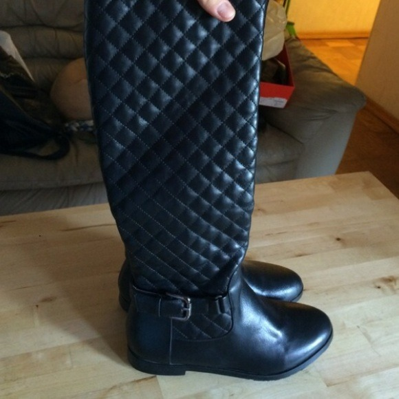 Chanel Shoes Look Alike Quilted Boots With Buckle Poshmark