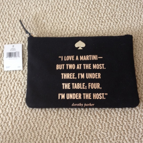 Kate Spade Quotes Brilliant 49% Off Kate Spade Clutches & Wallets  Kate Spade Dorothy Parker