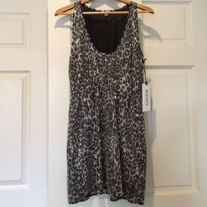 Rodarte for Target gray sequined leopard dress L