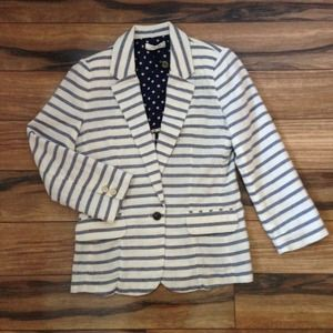 Striped blazer from Anthropologie