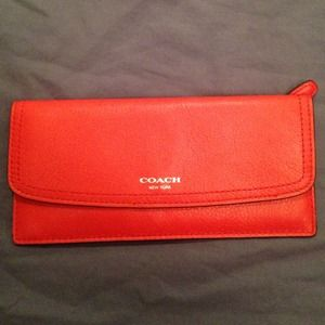 Coach slim soft leather wallet