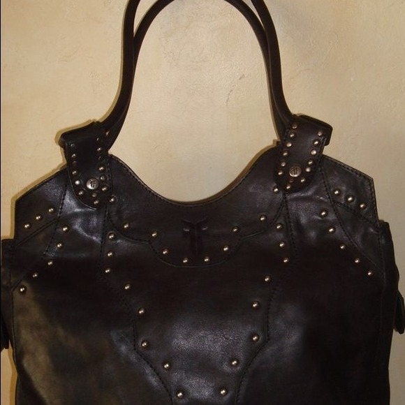 71% off Frye Handbags - Black Frye tote with silver studs from ...