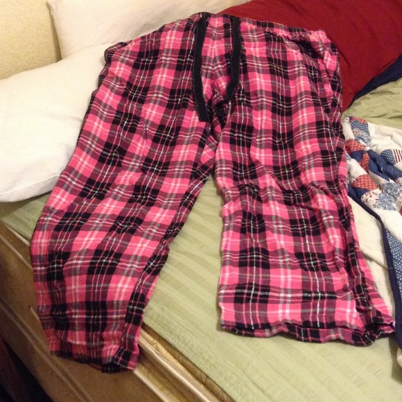 50% off Old Navy Pants - Hot pink and Black plaid PJ pants SOLD ...