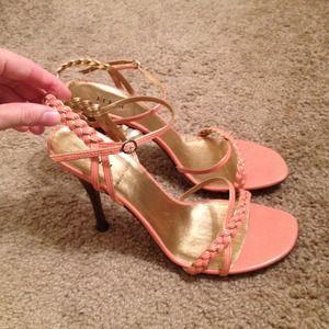 FENDI Shoes - Flash sale! Peach and Gold Fendi Shoes